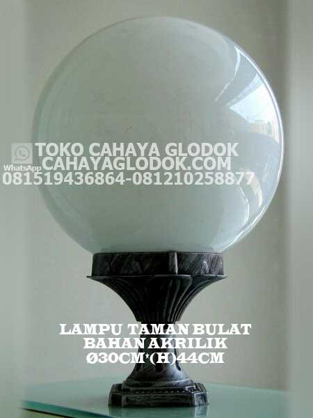 Jual Lampu Taman Akrilik Bulat 30 Cm Cahayaglodok Com