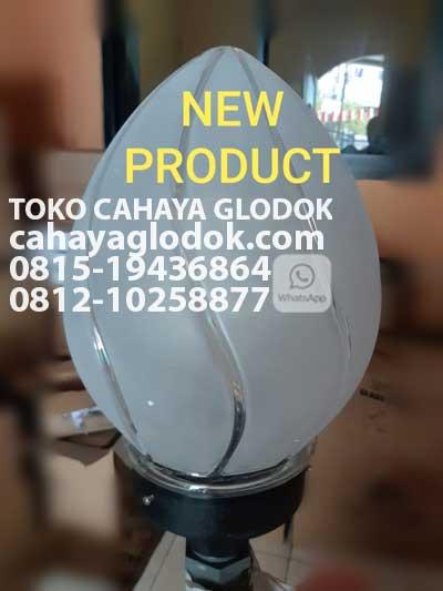 Jual Lampu Taman Kaca Oval Modern Minimalis Cahayaglodok Com