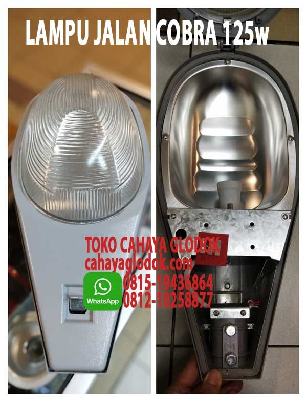 Jual Lampu Jalan 125w Cobra Fitting Base E27 Cahayaglodok Com