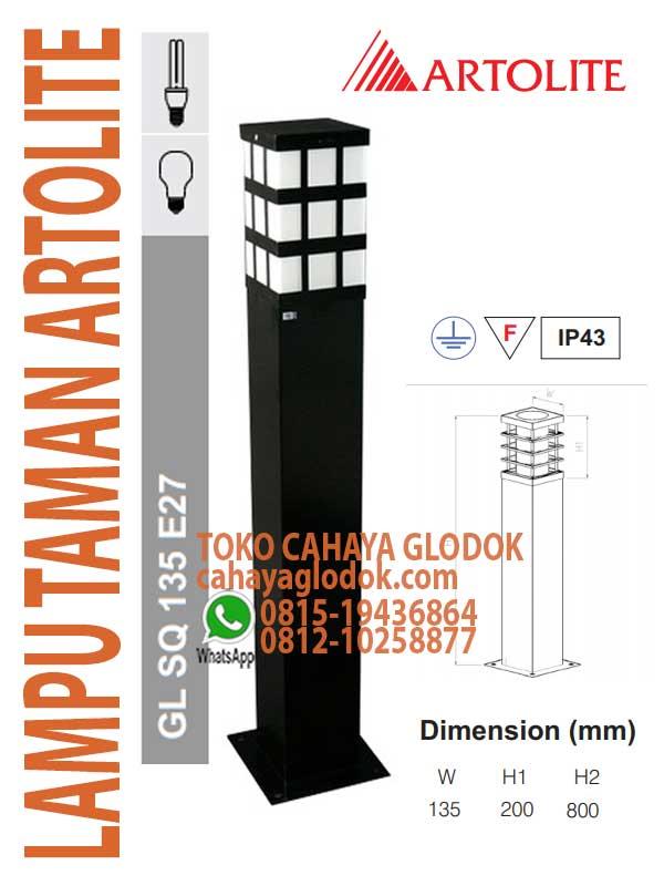 Jual Lampu Taman Artolite Gl Sq 130 E27 Cahayaglodok Com